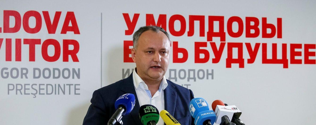 У Молдові проросійський кандидат в президенти пообіцяв переслідування опонентам