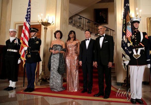 Мишель Обама на прощальном ужине в Белом доме_3