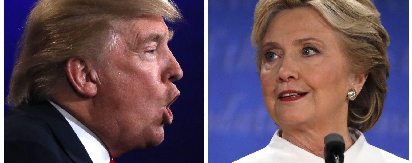 Фінальні теледебати Клінтон та Трампа в одному малюнку. Інфографіка