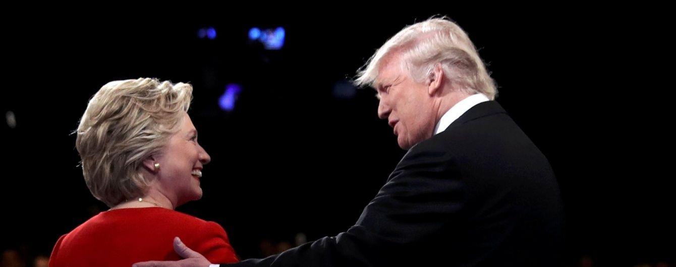 Трамп і Клінтон зійшлися у гарячих дебатах. Онлайн-трансляція