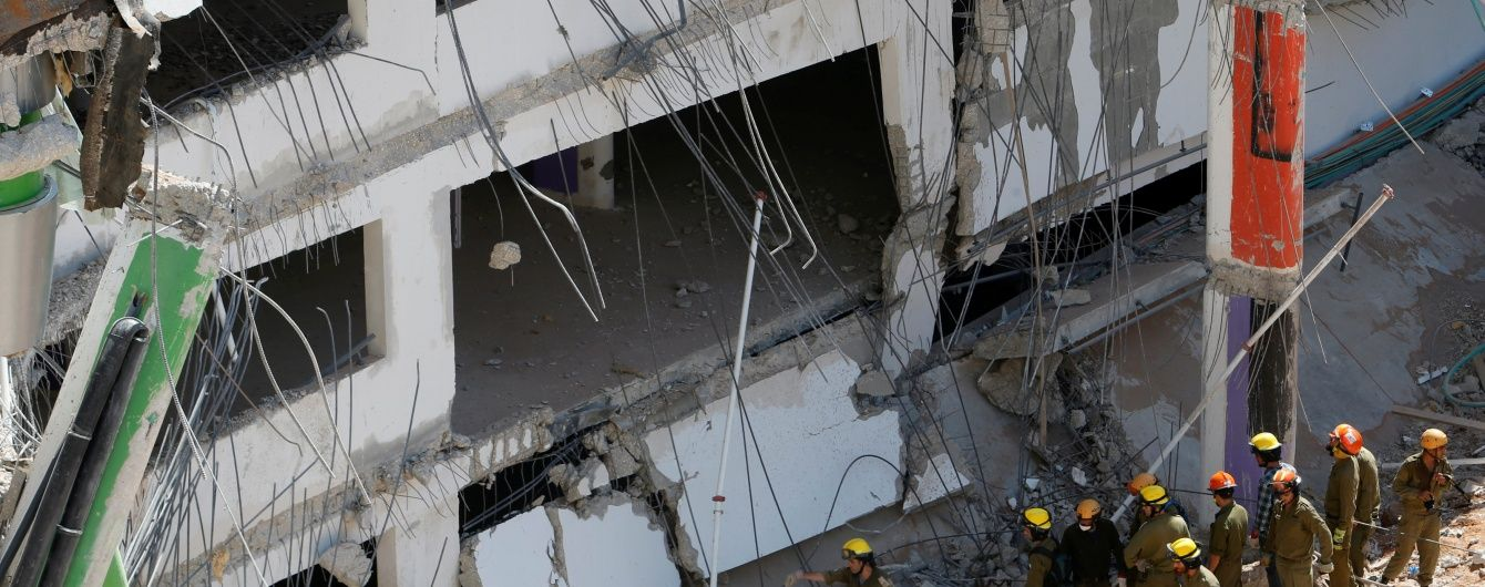 В Ізраїлі досі шукають зниклих під уламками розваленого будівництва