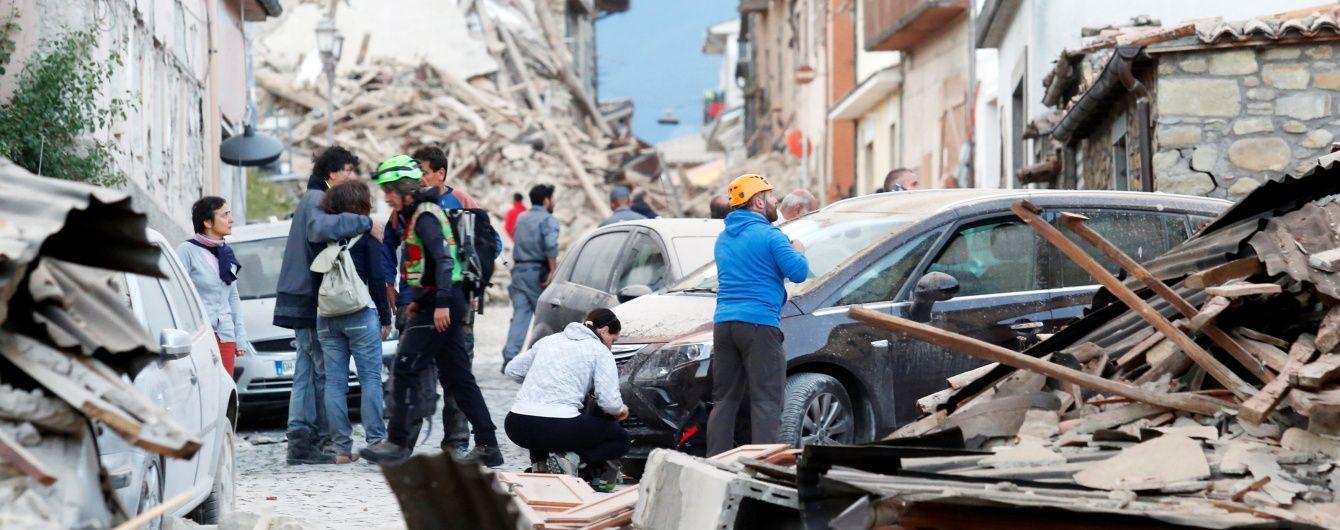Італія запроваджує надзвичайний стан у зоні руйнівного землетрусу