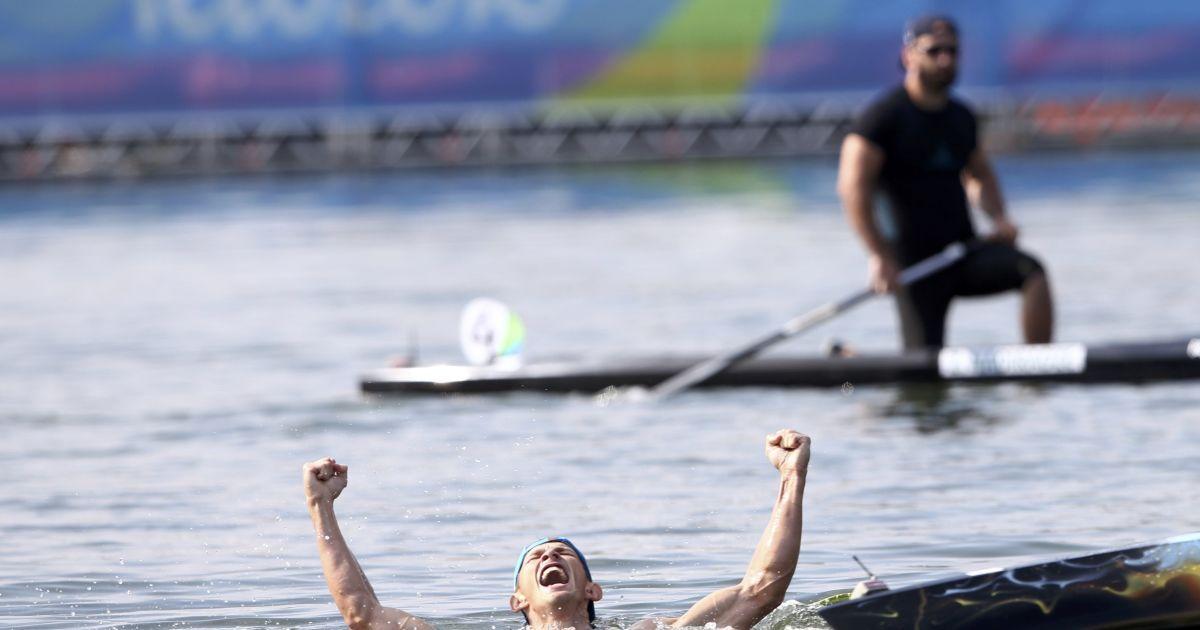 Фініш Юрія Чебана у заїзді на 200 м