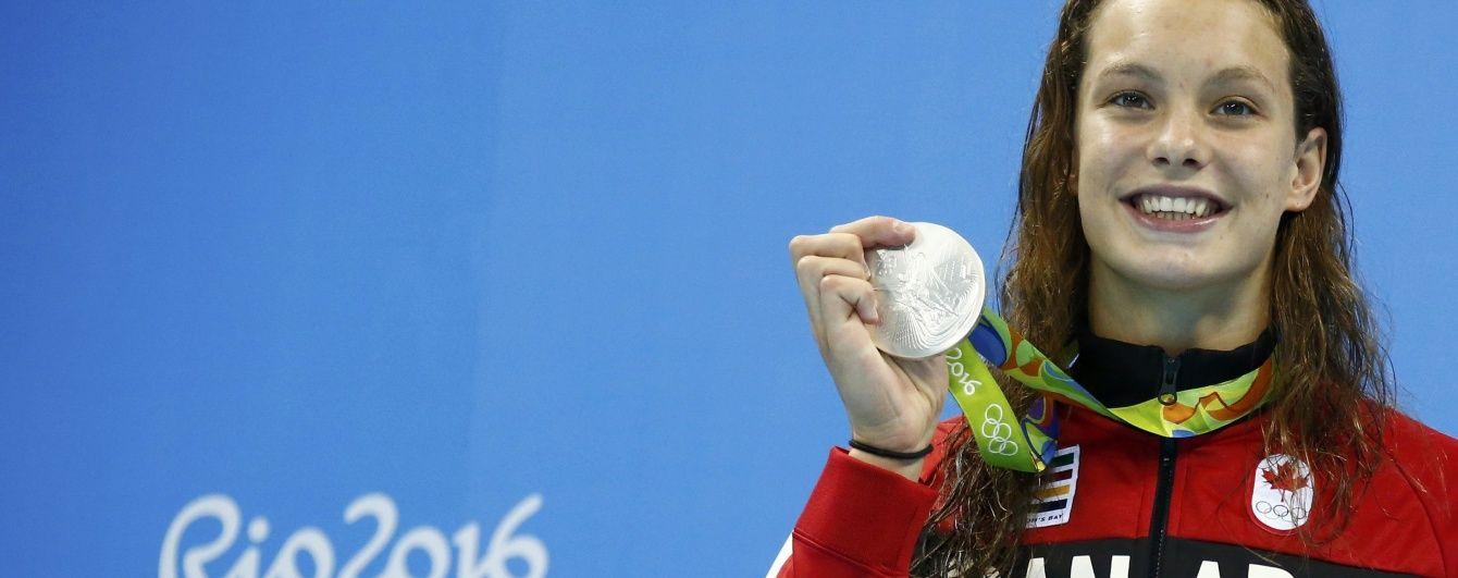 Канадська плавчиня Олексяк встановила фантастичне досягнення на Олімпіаді-2016