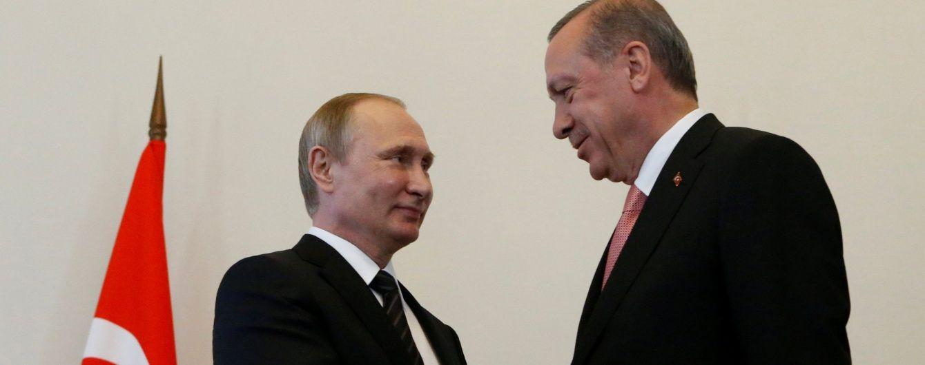 Путін із Ердоганом поговорили про війну у Сирії