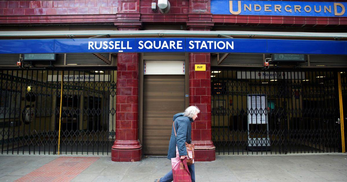 Станція метро Рассел-Сквер зачинена через напад озброєного чоловіка. @ Reuters