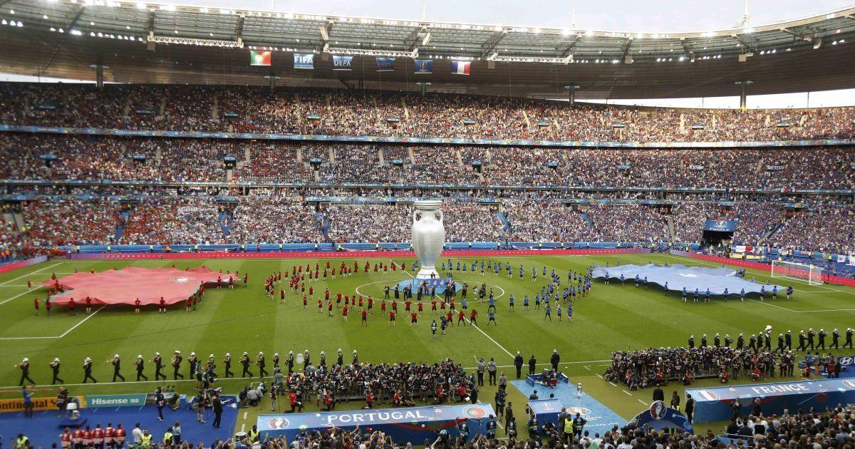 """10 липня, Сен Дені, """"Стад-де-Франс"""". Передматчева церемонія до фіналу чемпіонату Європи 2016 року Португалія - Франція."""
