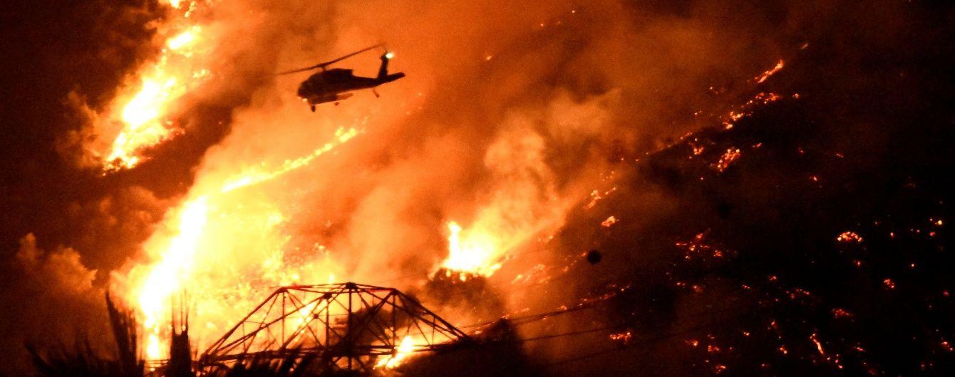 Гаряча стихія: площа лісової пожежі в Каліфорнії збільшилася удвічі