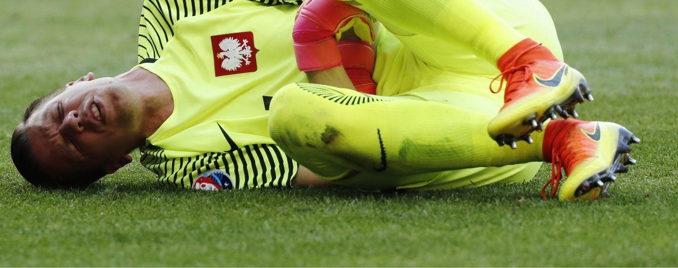 Основний голкіпер збірної Польщі пропустить матч з українцями на Євро-2016