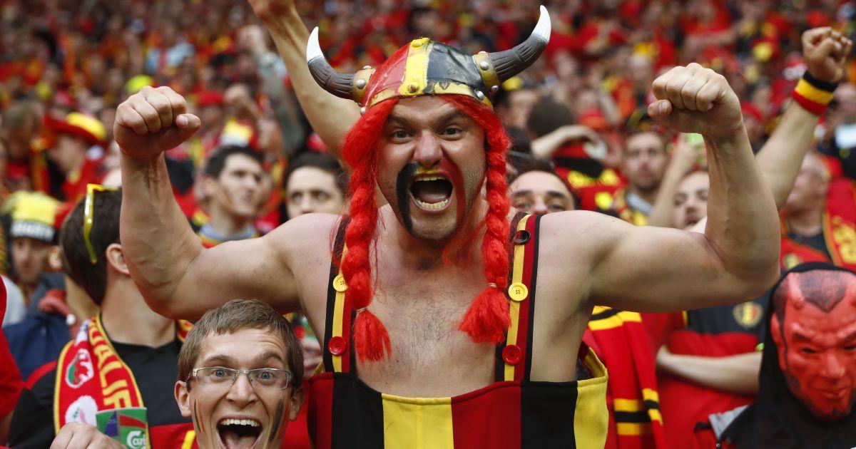 Бельгійські вболівальники перед матчем Євро-2016 між Бельгією та Італією. Італійці впевнено перемогли суперника з рахунком 2:0. @ Reuters