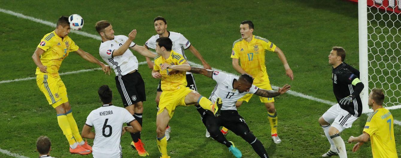 Україна заслужила забити гол наприкінці першого тайму - німецький півзахисник