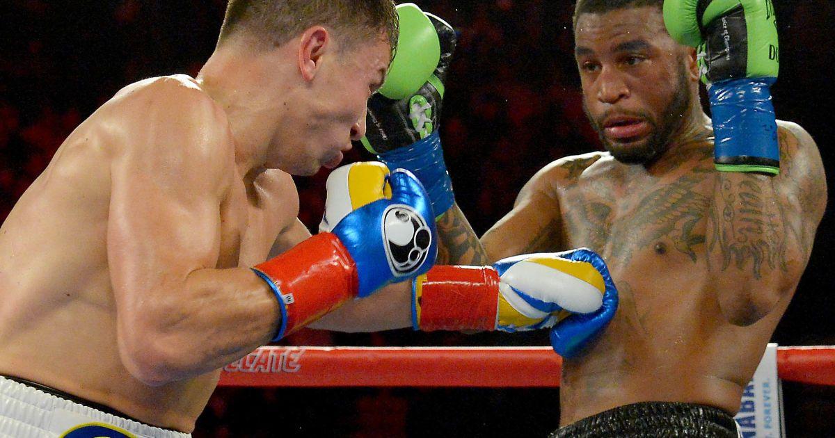 23 квітня 2016 року. Лос-Анджелес. Бій за чемпіонські титули  WBA, WBC та IBF у середній вазі Геннадій Головкін - Домінік Вейд. @ Reuters