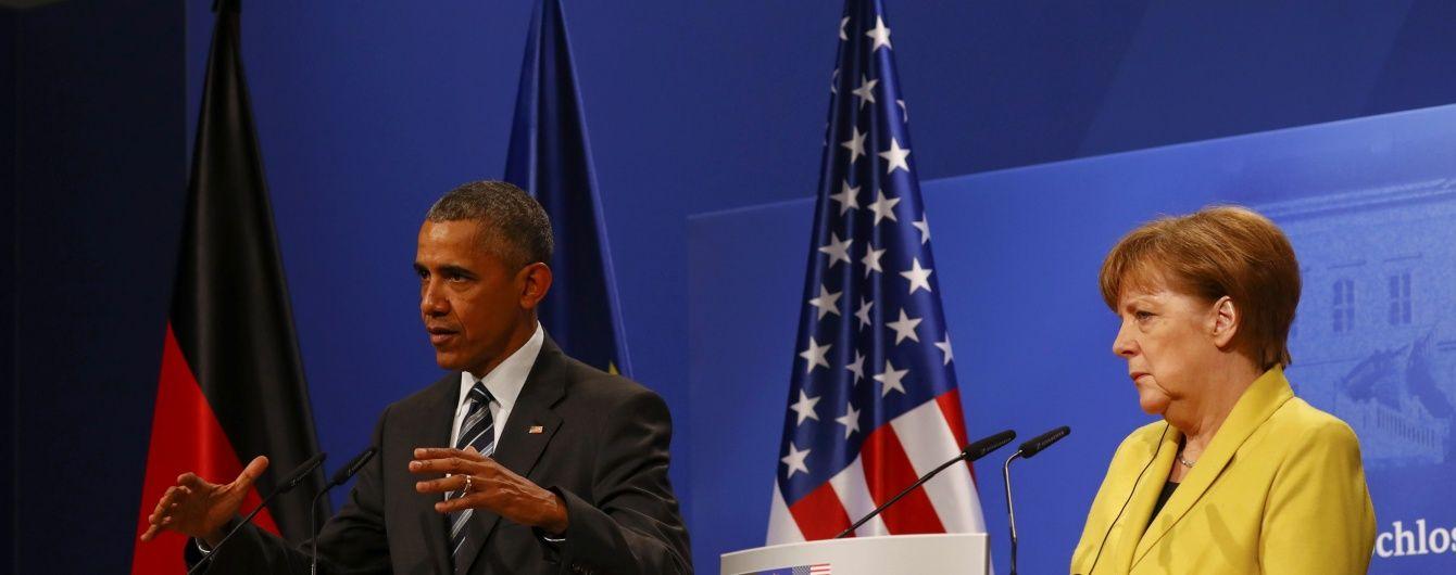 Обама зустрінеться з Меркель, щоб обговорити Україну і Сирію