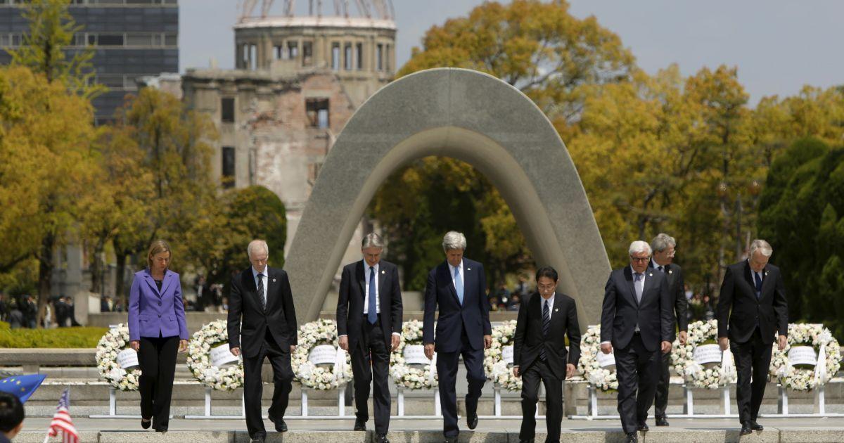 """Джон Керрі вперше відвідав Хіросіму в рамках зустрічі глав МЗС """"Великої сімки"""". @ Reuters"""