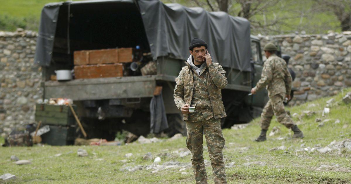 Войска непризнанной Нагорно-Карабахской Республики.