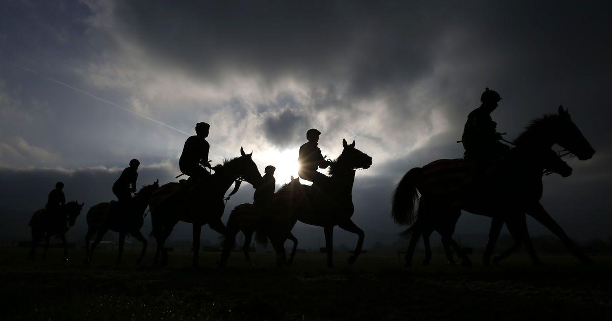 Кінні скачки Cheltenham Gallops у курортному місті Челтнем в Англії. @ Reuters