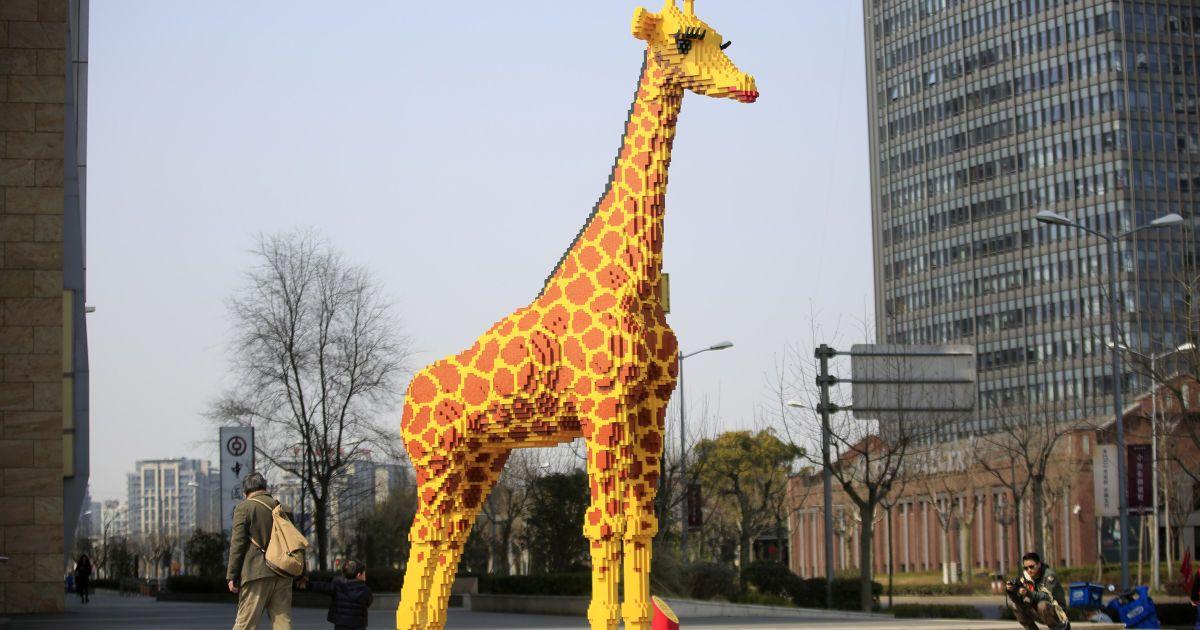 жираф из лего картинки поп арт женщина