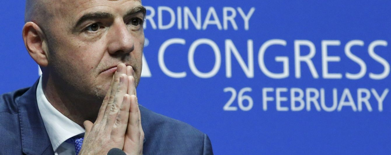 Новообраний бос ФІФА Інфантіно буде заробляти менше свого попередника