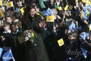 Герцогиня Кембриджская побывала с визитом в Шотландии