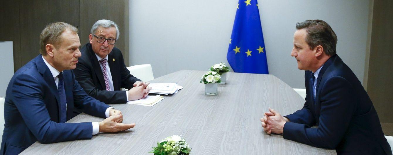Туск повідомив про прогрес у напружених перемовинах щодо утримання Британії в ЄС