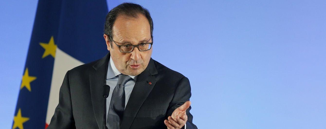Олланд попередив про загрозу війни між Туреччиною та Росією