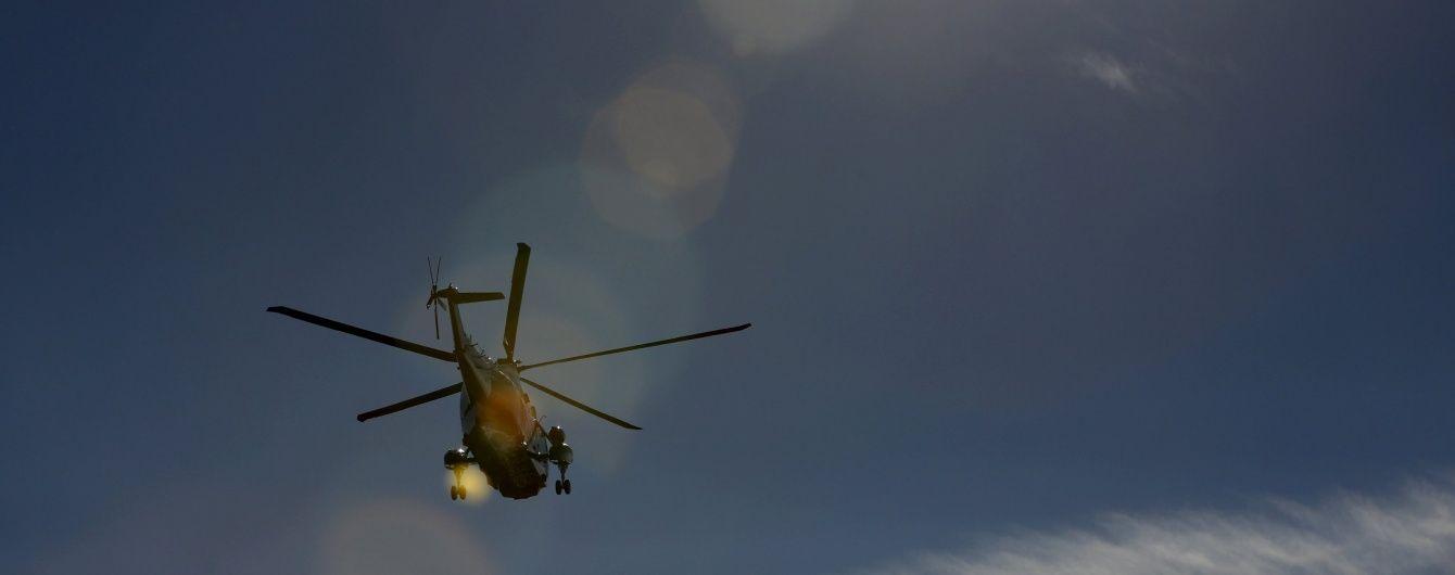 У Росії гелікоптер впав у озеро