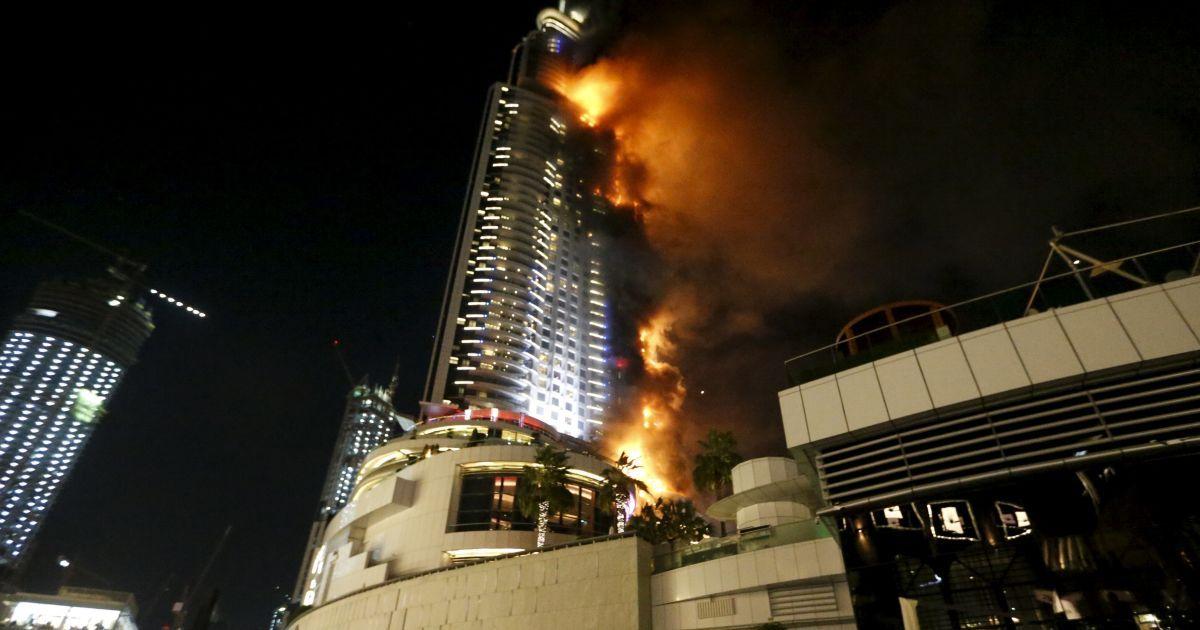 Дубай пожар в небоскребе видео продажа доходных домов в чехии