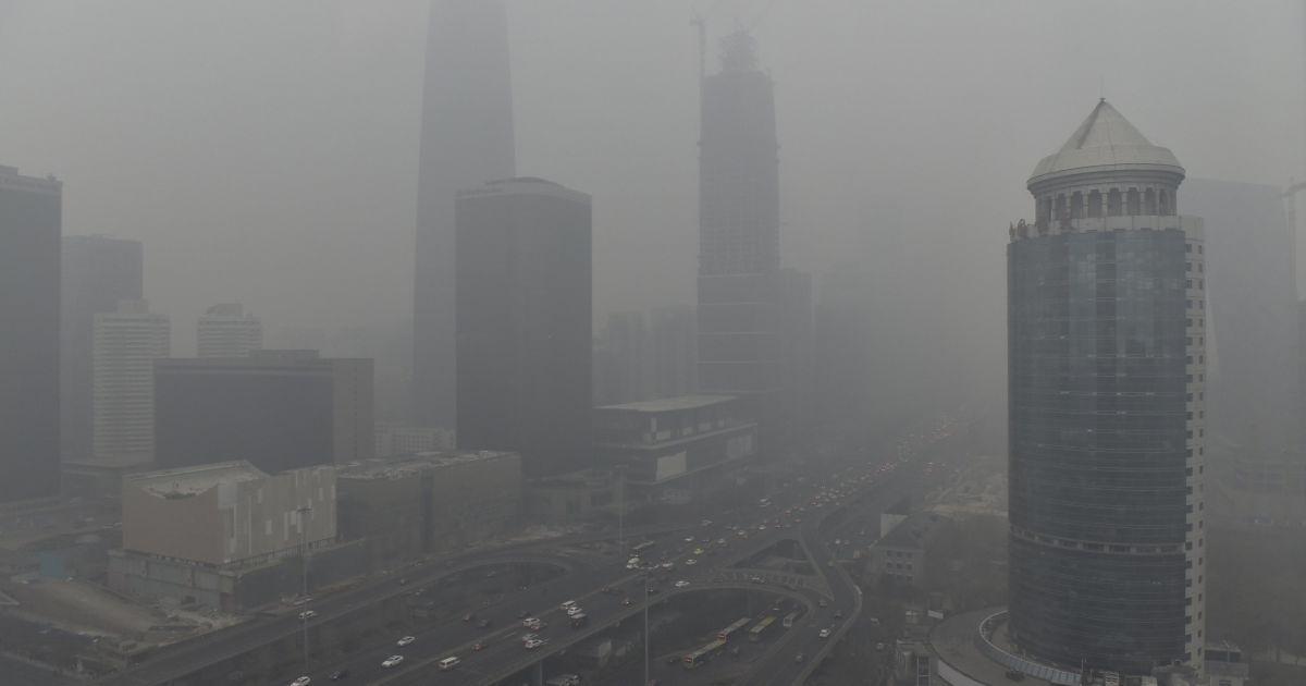 Китай затянуло густым смогом @ Reuters