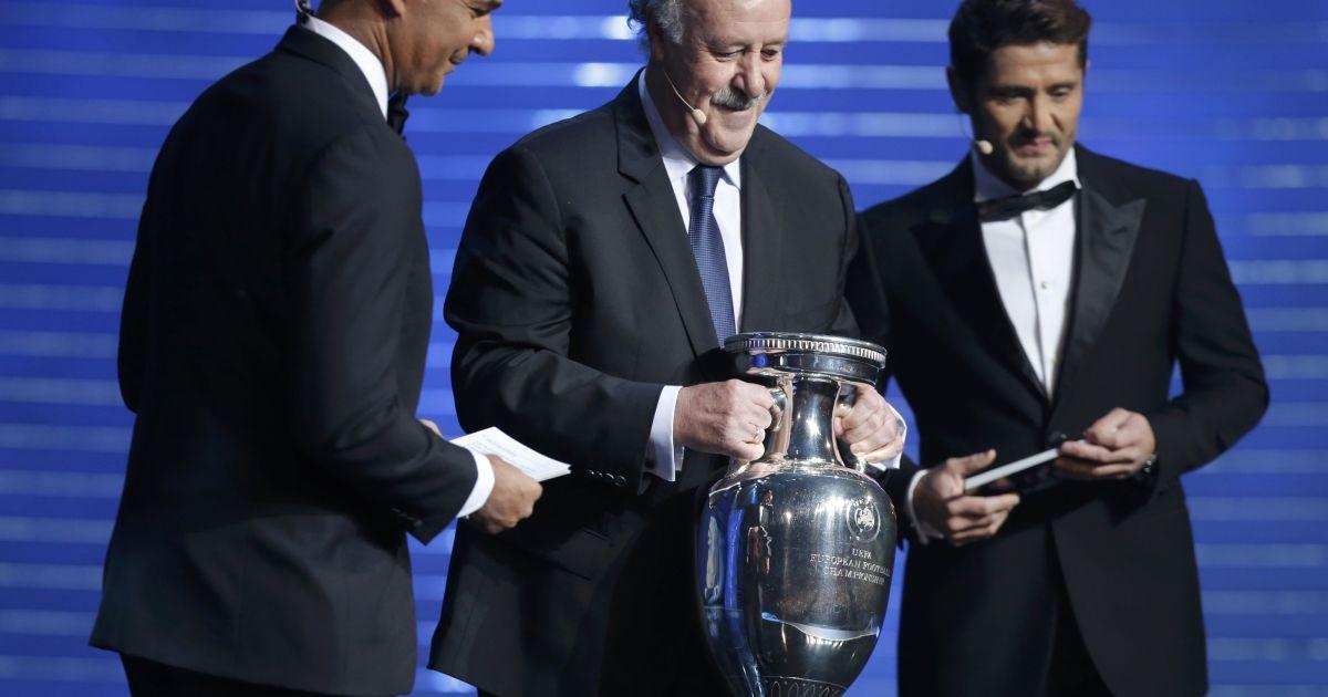 Церемонія жеребкування Євро-2016 у Парижі. 12 грудня 2015 року.