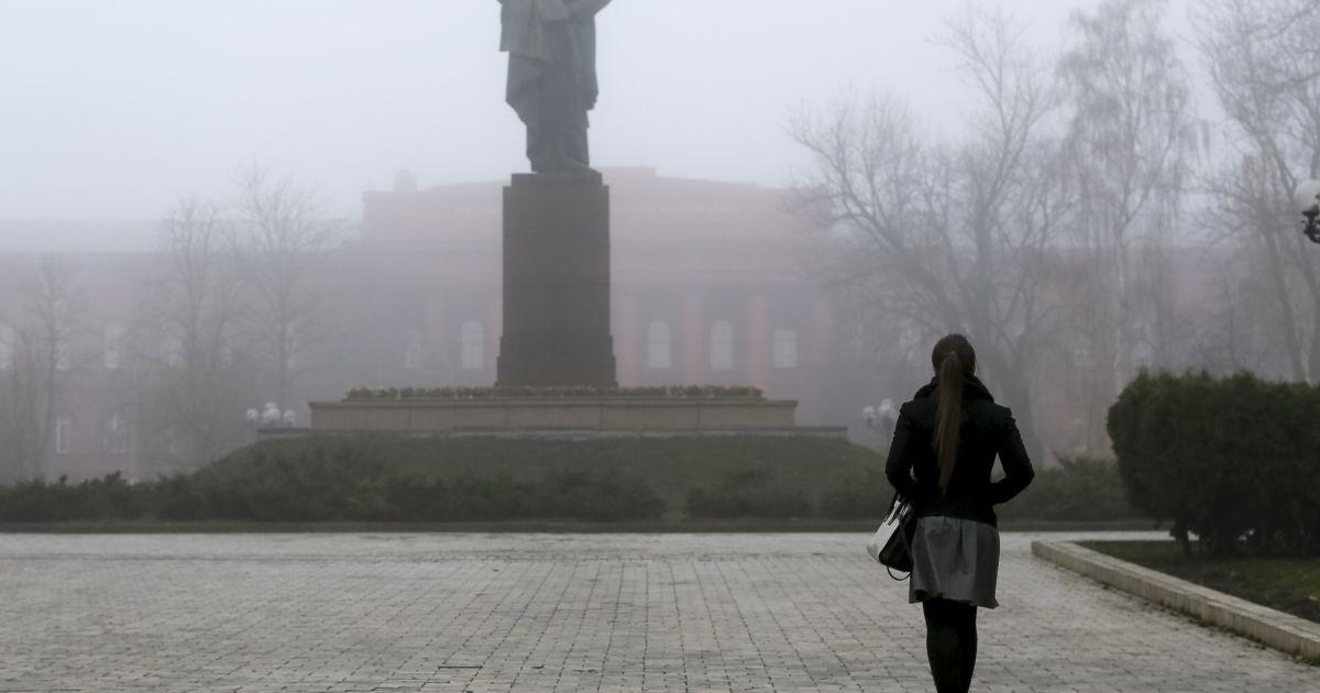 Киев накрыл густой туман @ Reuters