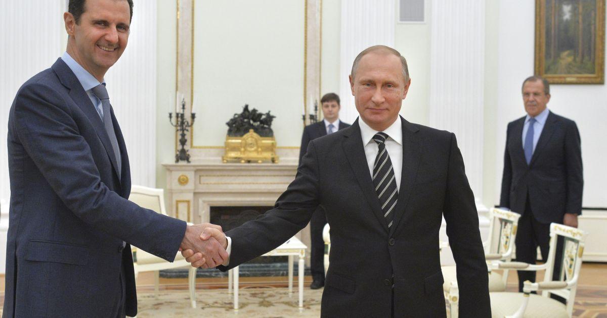 В Кремле рассказали, о чем Асад говорил с Путиным в Москве