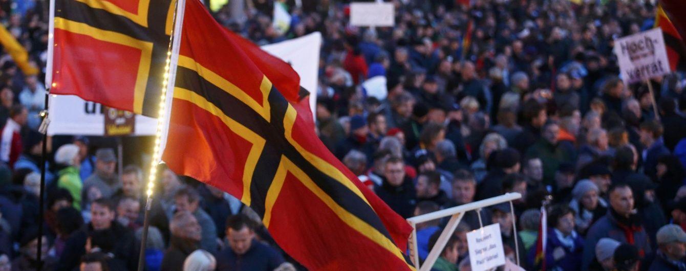 В Берлине 5 тысяч демонстрантов вышли на акции протеста против миграционной политики
