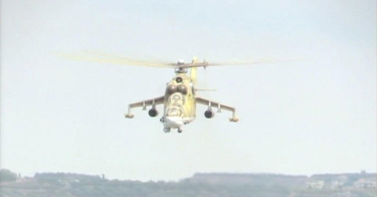 Российские вертолеты в Сирии, близ Латакии.