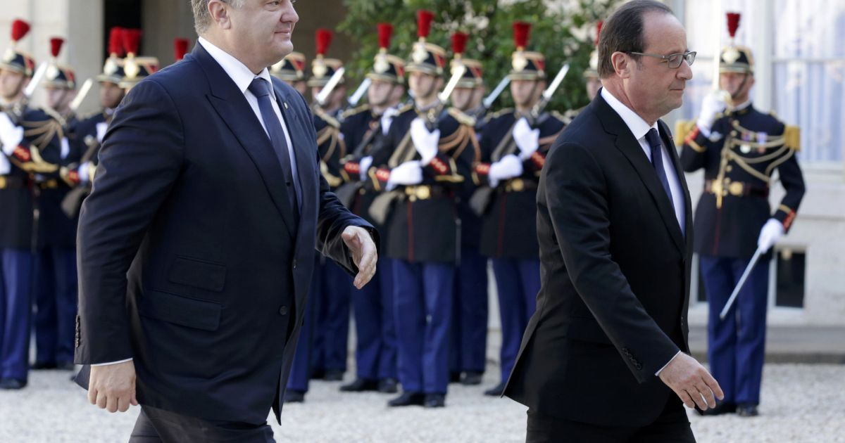 "Олланд зустрівав лидеров ""Норманнской четверки"" @ Reuters"