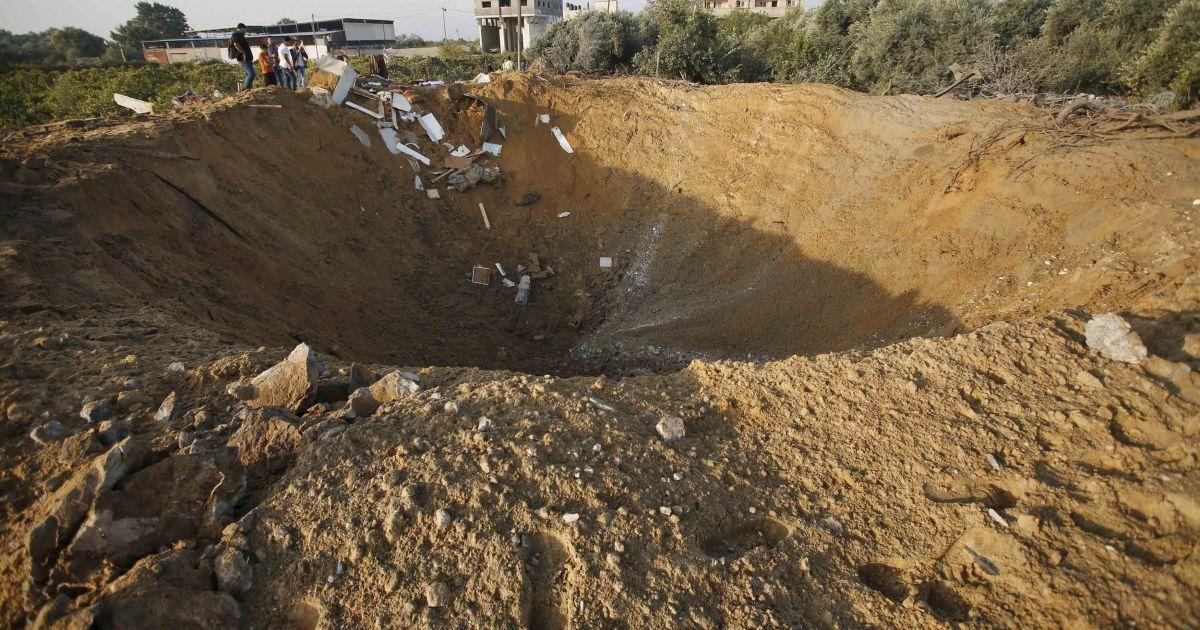 Ночью Израиль нанес авиаудар по сектору Газа @ Reuters