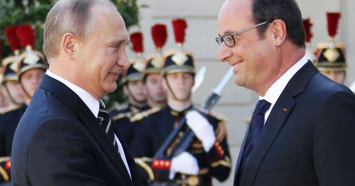 В Париже началась встреча тет-а-тет Олланда и Путина