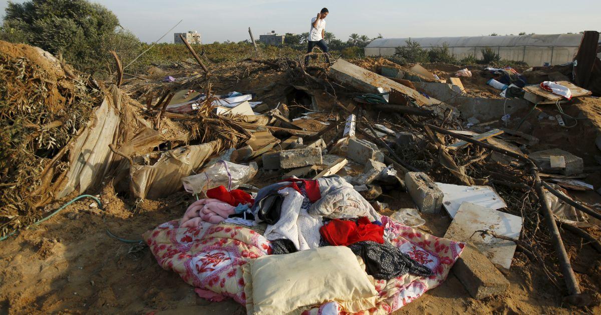 Мощный обстрел накрыл Сектор Газа ночью @ Reuters