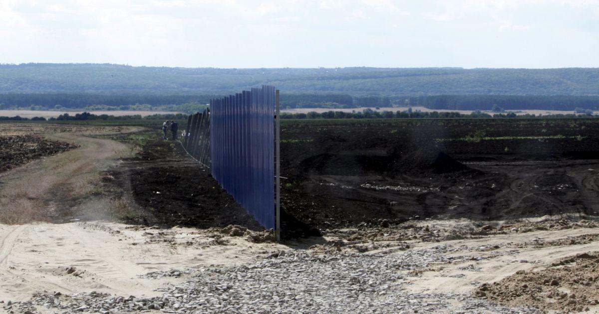 Строительство военной базы в Белгородской области в России