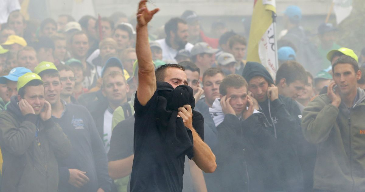 Фермеры устроили беспорядки @ Reuters