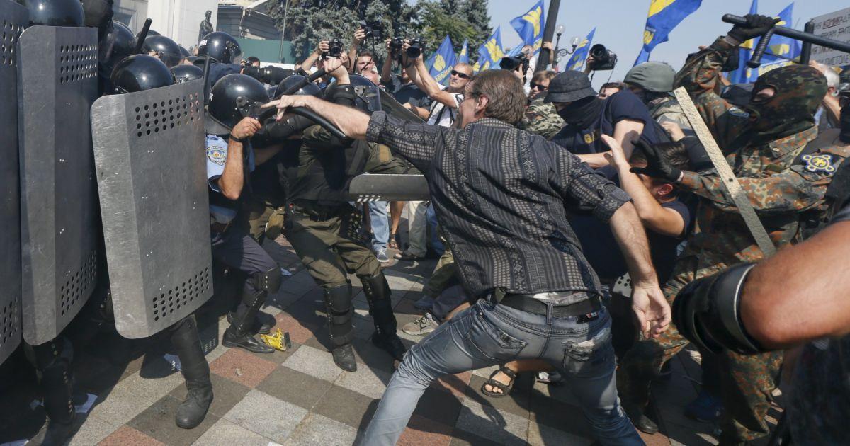 Под Верховной Радой был ранен заместитель Авакова