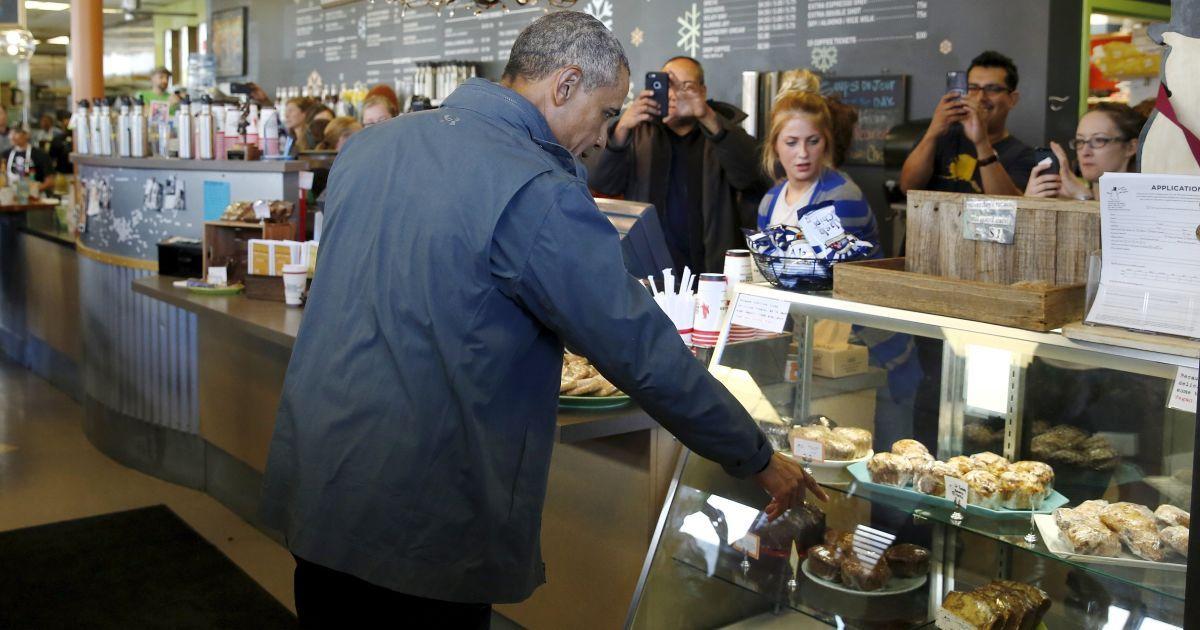Президент США Барак Обама під час відвідин Аляски вирішив пообідати в кафе @ Reuters