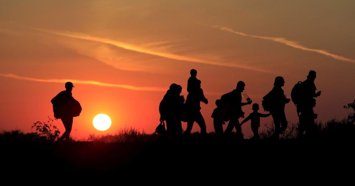 Мигранты идут в поисках лучшей жизни вдоль венгерской границы @ Reuters