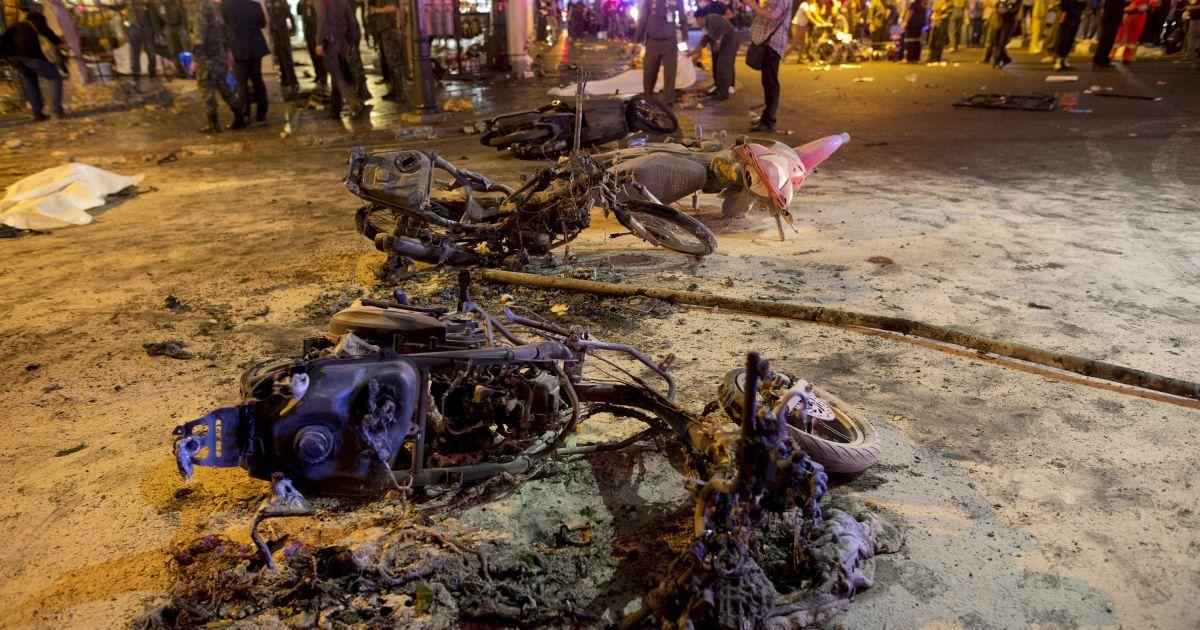 Место взрыва в Бангкоке. @ Reuters