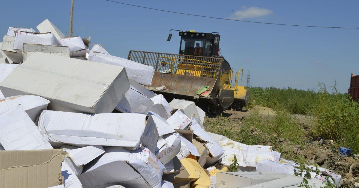 В России 6 августа уничтожили сотни тонн санкционных продуктов. @ Reuters