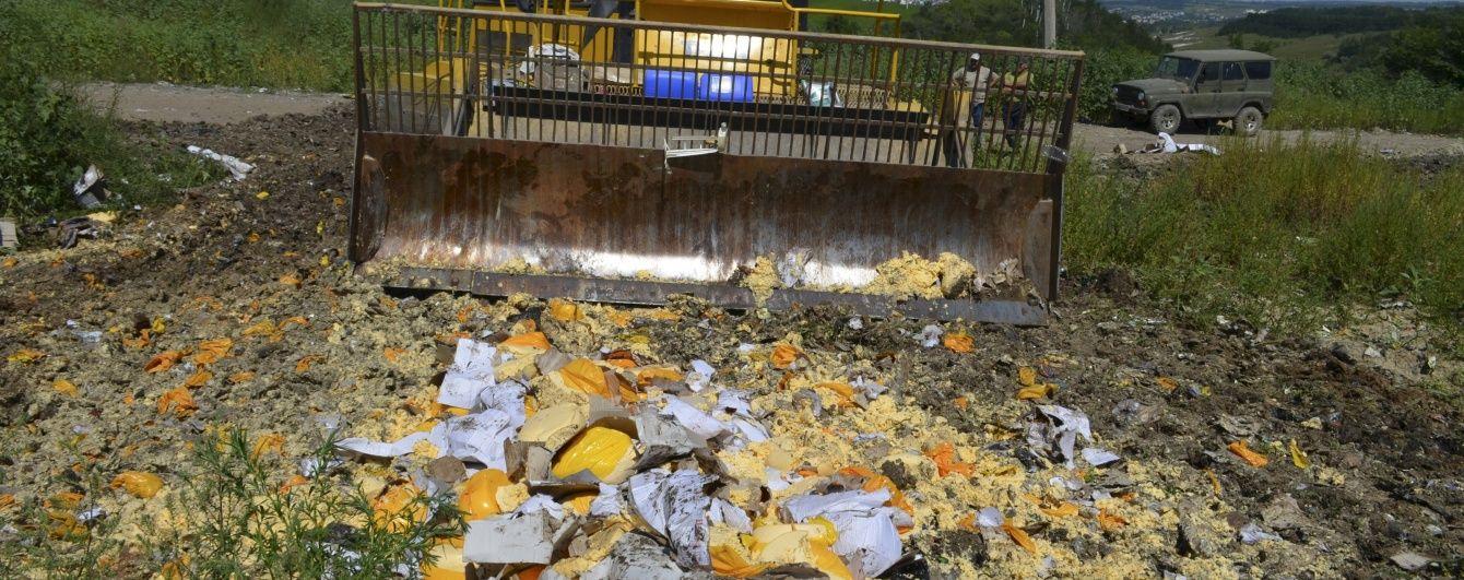 У Росії знищили понад 5,5 тисяч тонн харчів
