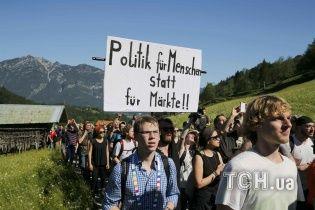 У Німеччині мітингувальники через саміт G7 блокували залізницю та дороги до замку Ельмау