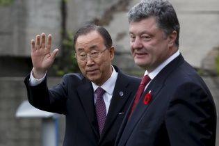 Порошенко обговорив із Пан Гі Муном розміщення миротворців на Донбасі