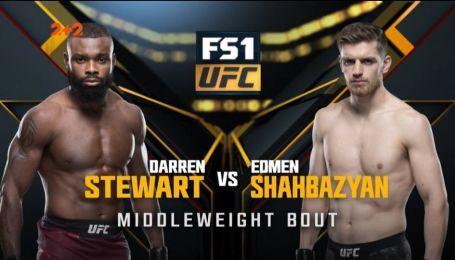UFC. Даррен Стюарт - Эдмен Шахбазян. Видео боя