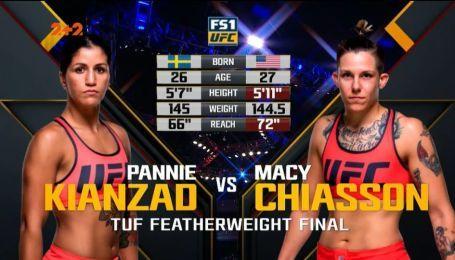 UFC. Пенни Кьянзад - Мэйси Чиассон. Видео боя