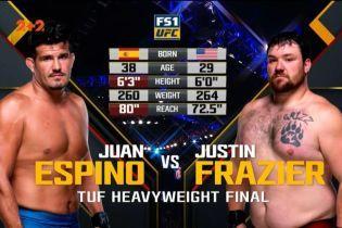 UFC. Хуан Эспино - Джастин Фразьер. Видео боя